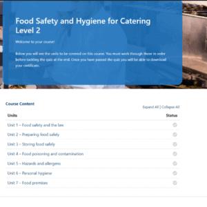 Food hygiene for catering units slide