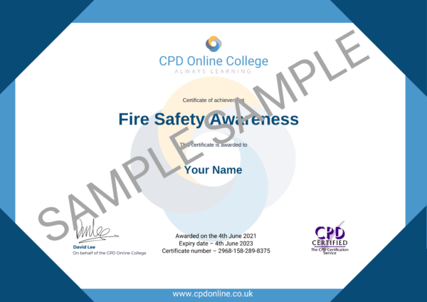 Fire Safety Awareness CPD Certificate