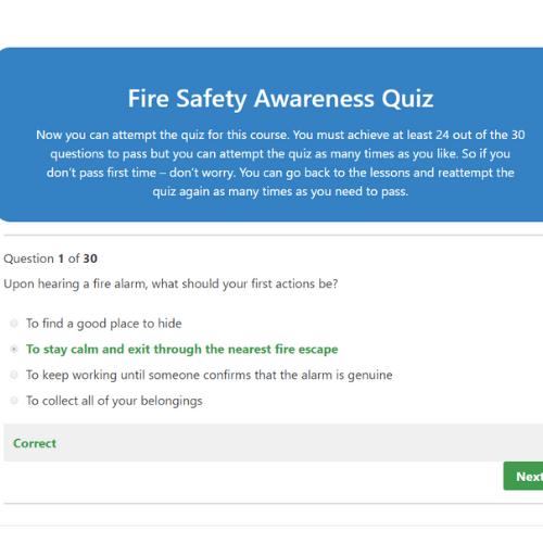 Fire Safety Awareness Quiz