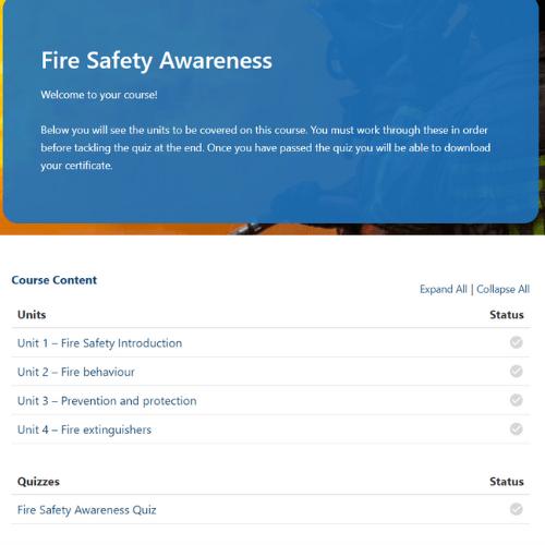 Fire Safety Awareness Units Slide