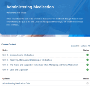 Administering Medication Units Slide