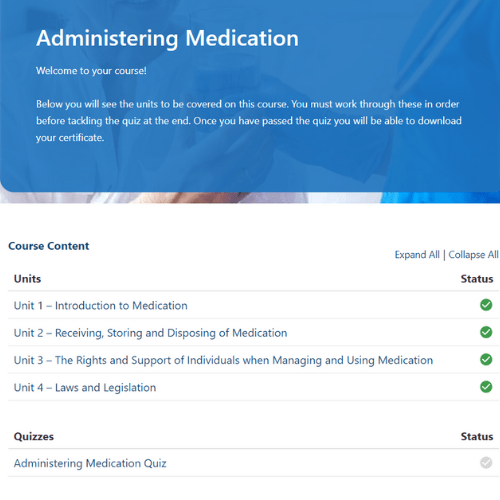 Administering Medication Units Slide