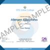 Allergen Awareness CPD Certificate