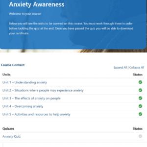 Anxiety Awareness Units Slide