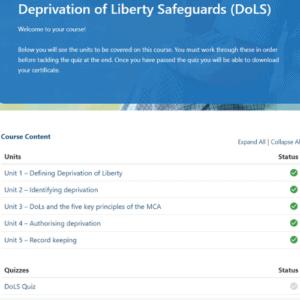 Deprivation of liberty safeguards units slide