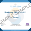 Health and Safety Level 2 CPD Certificate