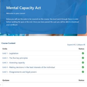 Mental Capacity Unit Slide