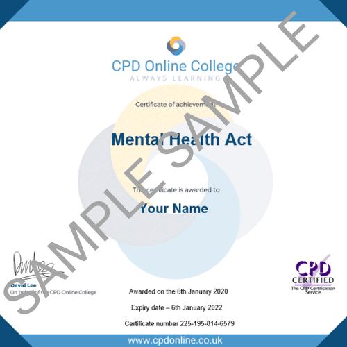 Mental Health Act PDF Certificate