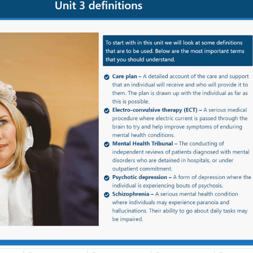 Mental Health Act Unit 1 Slide