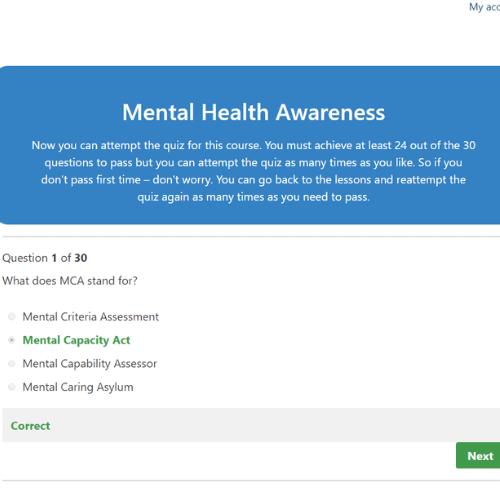Mental Health Awareness Quiz Questions