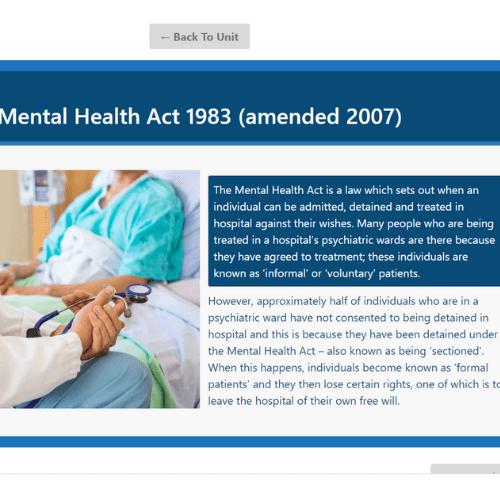 Mental Health Awareness Unit Slide