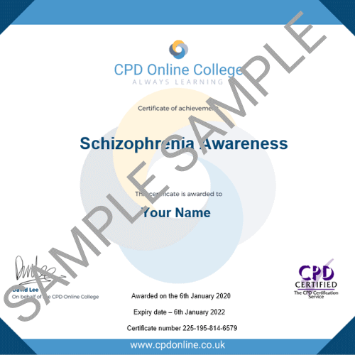 Schizophrenia Awareness PDF Certificate