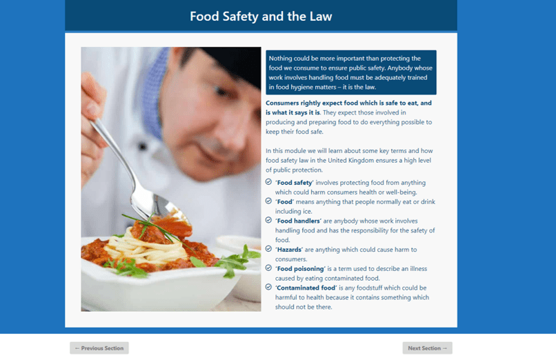 Food Safety and Hygiene for Catering Level 2 CPD