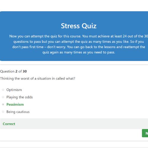 Understanding Stress Quiz Question