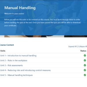 Manual Handling Units Slide