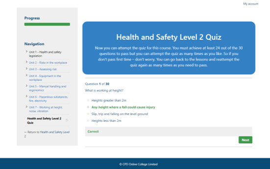 Health and Safety Level 2 CPD