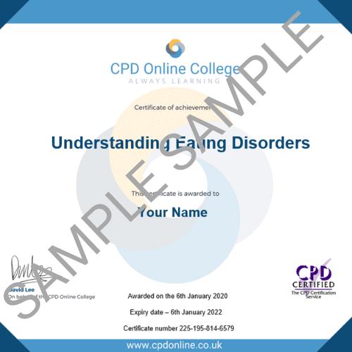 Understanding Eating Disorders PDF Certificate