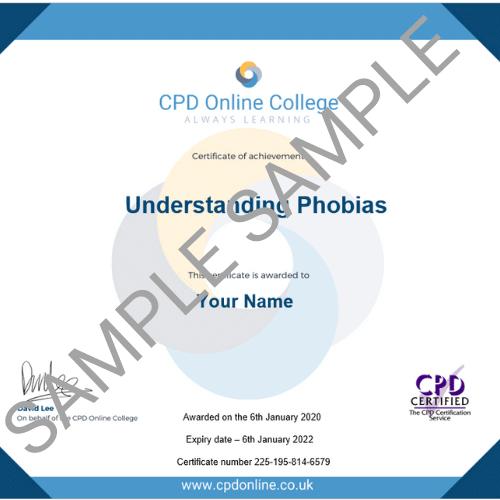 Understanding Phobias PDF Certificate