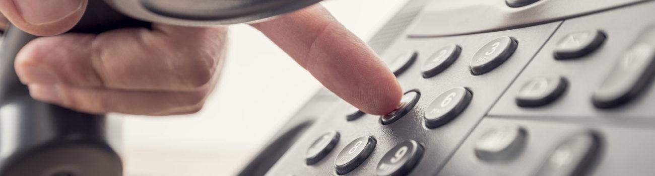 Teacher making a phone call