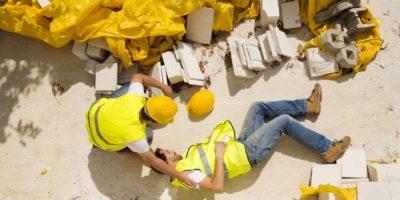 Injured builder