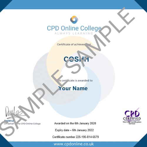 COSHH PDF Certificate