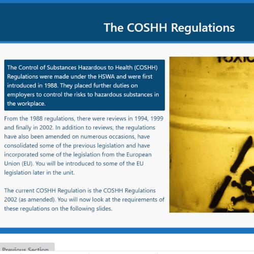 COSHH Unit 3 Slide