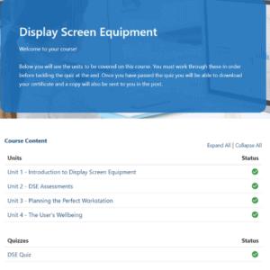 Display Screen Equipment Unit Slide