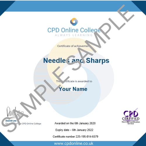 Needles and Sharps PDF Certificate