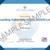 Safeguarding Vulnerable Adults (SOVA) Level 2 CPD Certificate