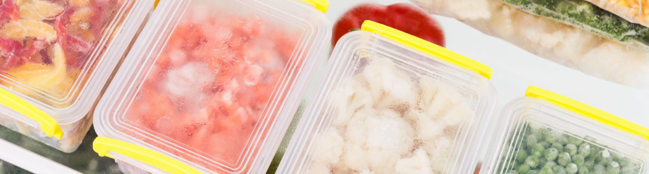 high risk food stored in separate boxes