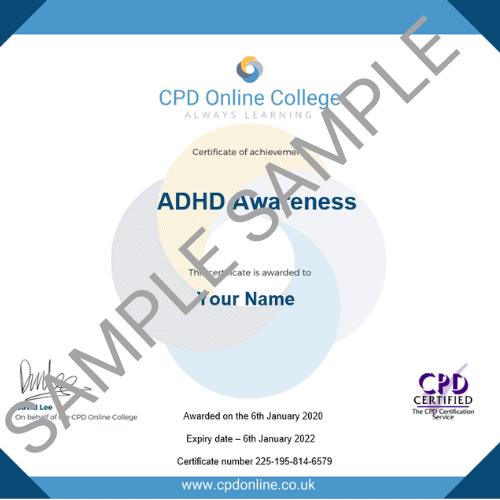ADHD Awareness PDF Certificate