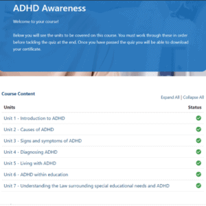 ADHD Awareness Units Slide
