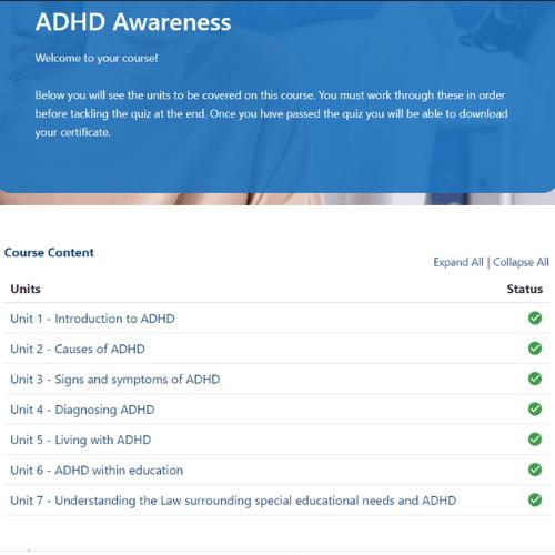 ADHD Awareness Units Slide