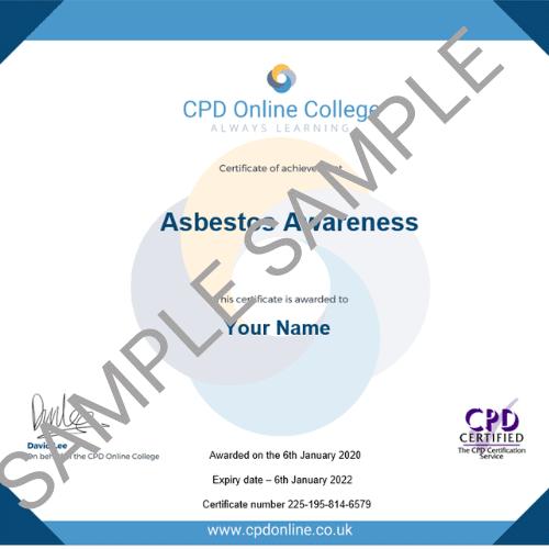 Asbestos Awareness PDF Certificate