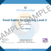 Food Safety for Catering Level 3 CPD Certificate
