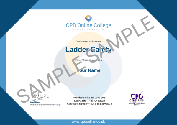 Ladder Safety CPD Certificate