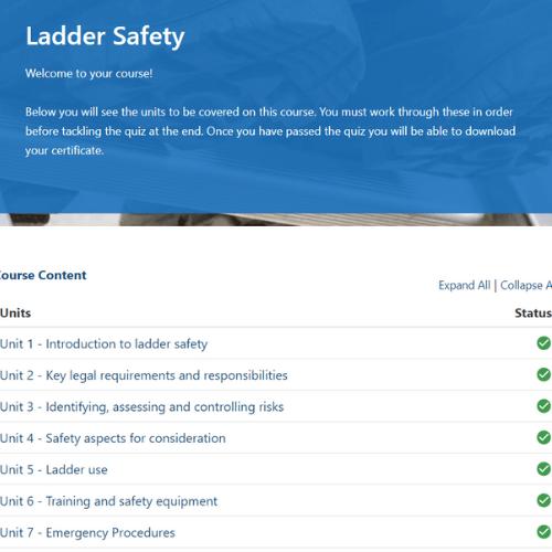 Ladder Safety Unit Slide