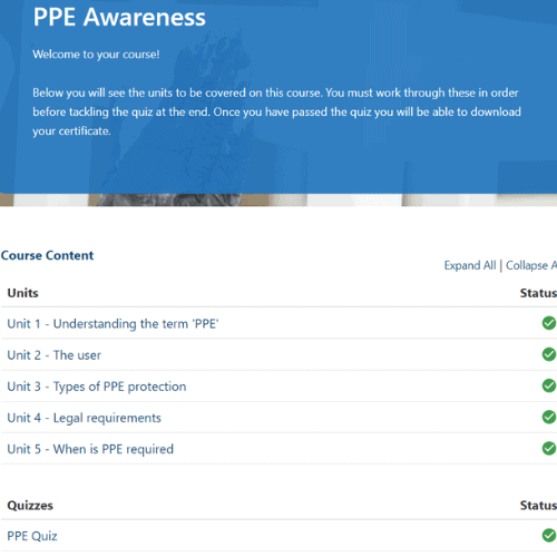 PPE Units Slide
