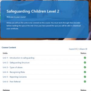 Safeguarding Children Level 2 Unit Slide