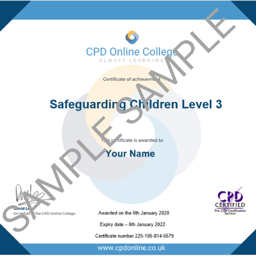 Safeguarding Children Level 3 PDF Certificate