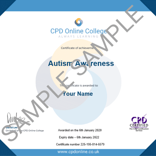Autism Awareness PDF Certificate