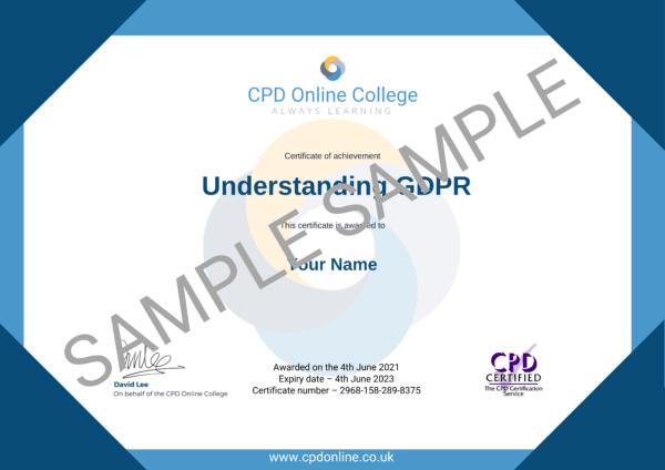 Understanding GDPR CPD Certificate