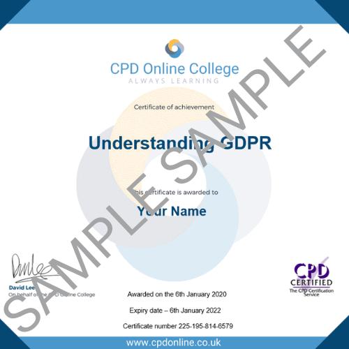 Understanding GDPR PDF certificate