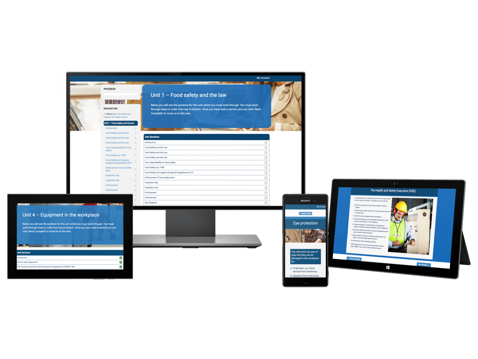 Multiple Devices with CPD Courses on