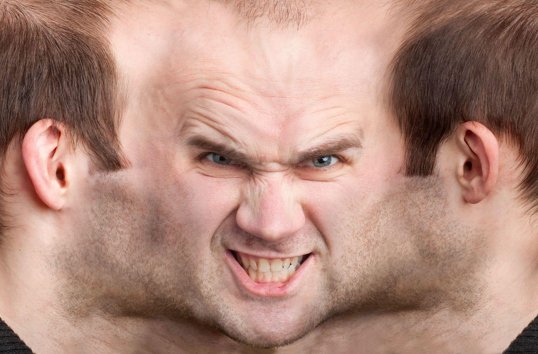 Man suffering with schizophrenia
