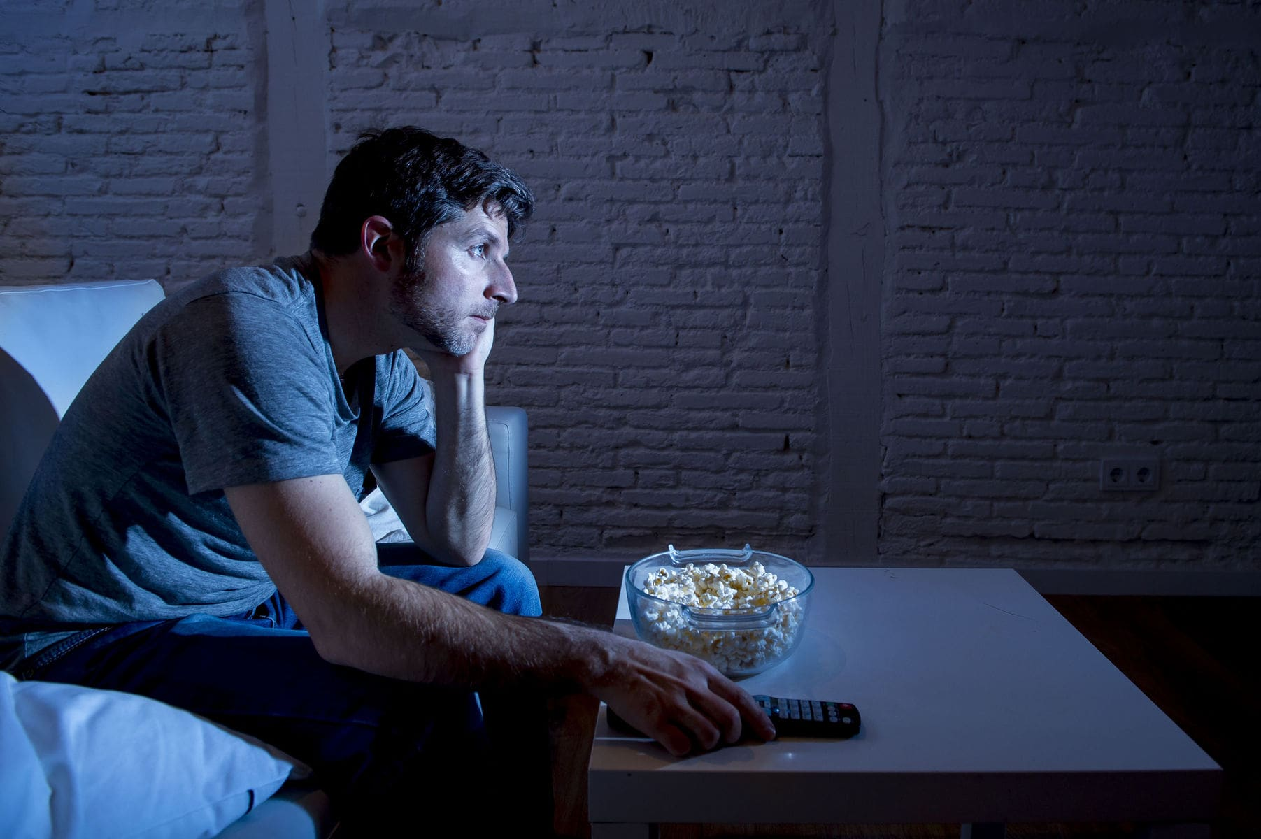 Man isolating himself from friends and family