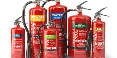 Different types of fire extinguishers