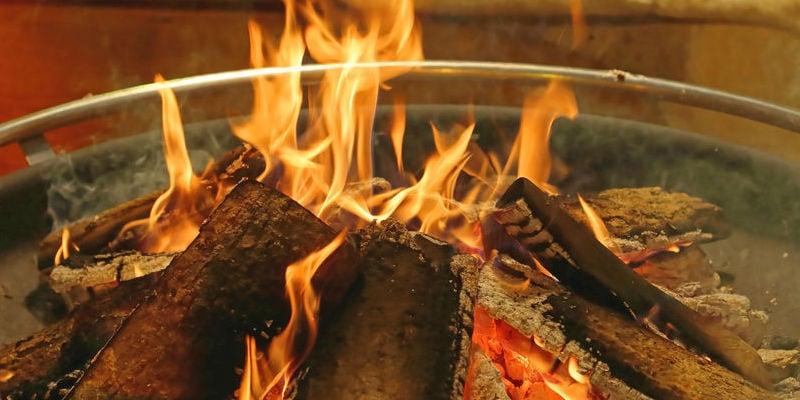 class A log fire