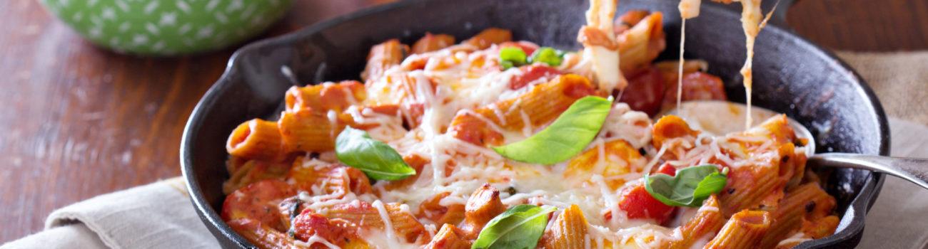 Cheesy pasta dish