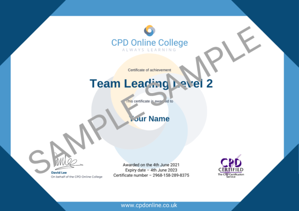 Team Leading Level 2 CPD Certificate